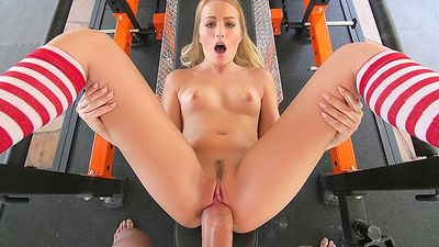 Coach after training right in the gym Fucks sexy chick